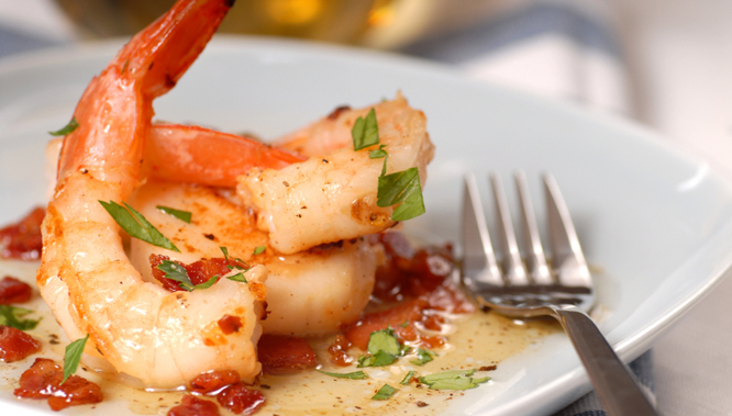 shrimp is a good, low-calorie source of protein