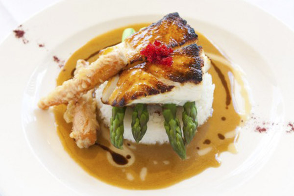 Miso-broiled Seabass at USS Nemo is our signature dish.
