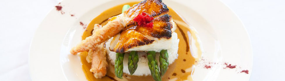 Try USS Nemo signature Sea Bass dish.