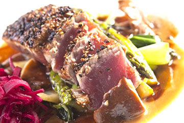 Prime tuna entrees on the menu at USS Nemo Restaurant