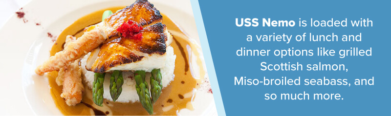 miso broiled seabass from USS Nemo