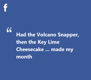 facebook review volcano snapper key lime cheesecake