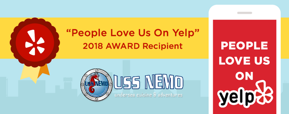 yelp award with uss nemo logo