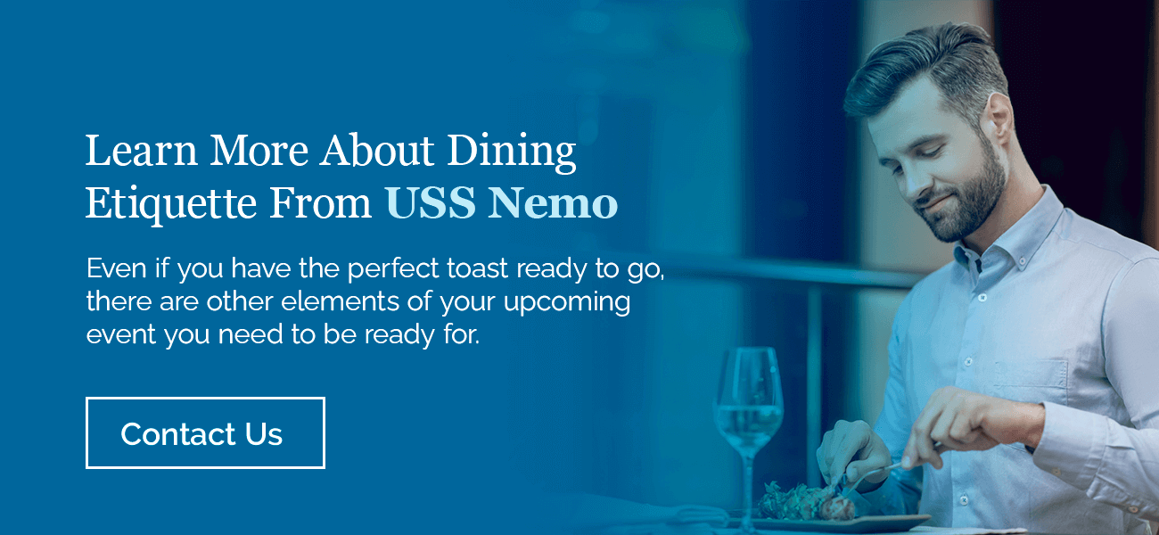 Learn more about dining etiquette from USS Nemo